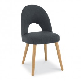 Charcoal Fabric Dining Chair - Oslo