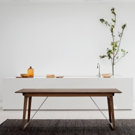 Skovby Walnut Extending Dining Table #38 (lifestyle)