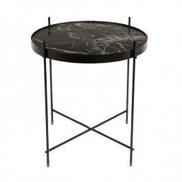Cupid Marble Black Side Table Zuiver