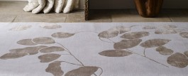 Himalayan Hand-Knotted Rug - Moon Leaf