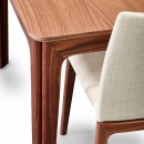 Skovby Upholstered Walnut Dining Chair detail (shown here with 'Walnut Extending Dining Table - Skovby 26')