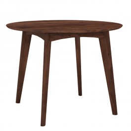 Ethnicraft Round High Walnut Dining Table Osso
