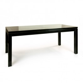 Black Lacquer Extending Dining Table