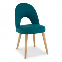 Teal Fabric Dining Chair - Oslo