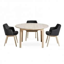 Skovby Curved Extending Dining Table 112