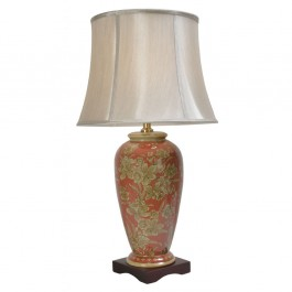 Pair of Oriental Table Lamps - Tall Golden Daffodil