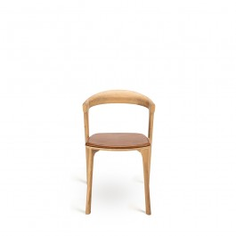 Ethnicraft Bok Dining Chair Oak & Leather