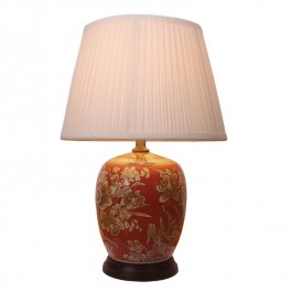Pair of Oriental Table Lamps Golden Daffodil