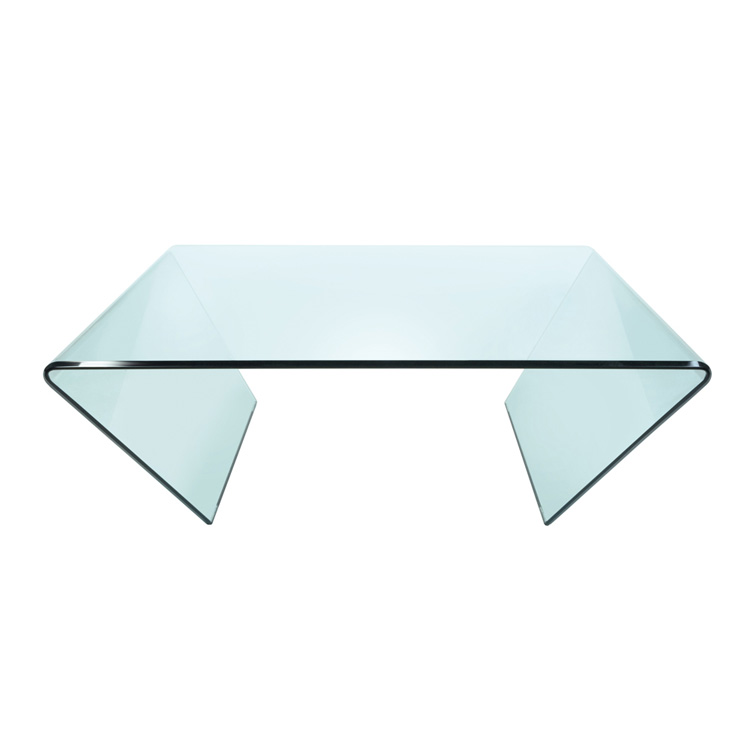 GreenApple Square Glass Coffee Table Curvo Modern Glass Interiors