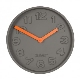 Wall Clock Concrete Time Orange