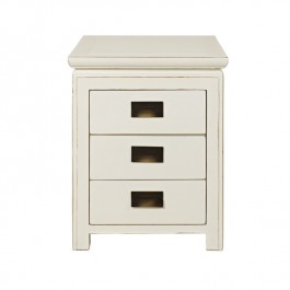 White Chinese Lacquer Nightstand