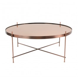 Zuiver Cupid Large Round Copper Coffee Table
