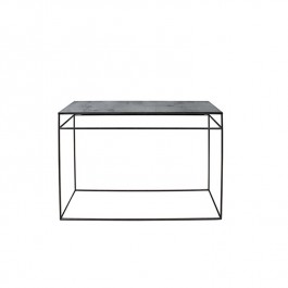Notre Monde Charcoal Heavy Aged Mirror Console Table