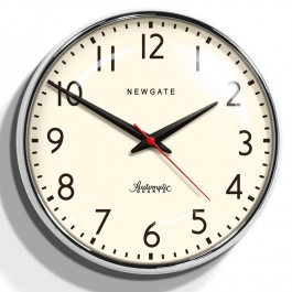 Newgate Chrome Retro Wall Clock Watford