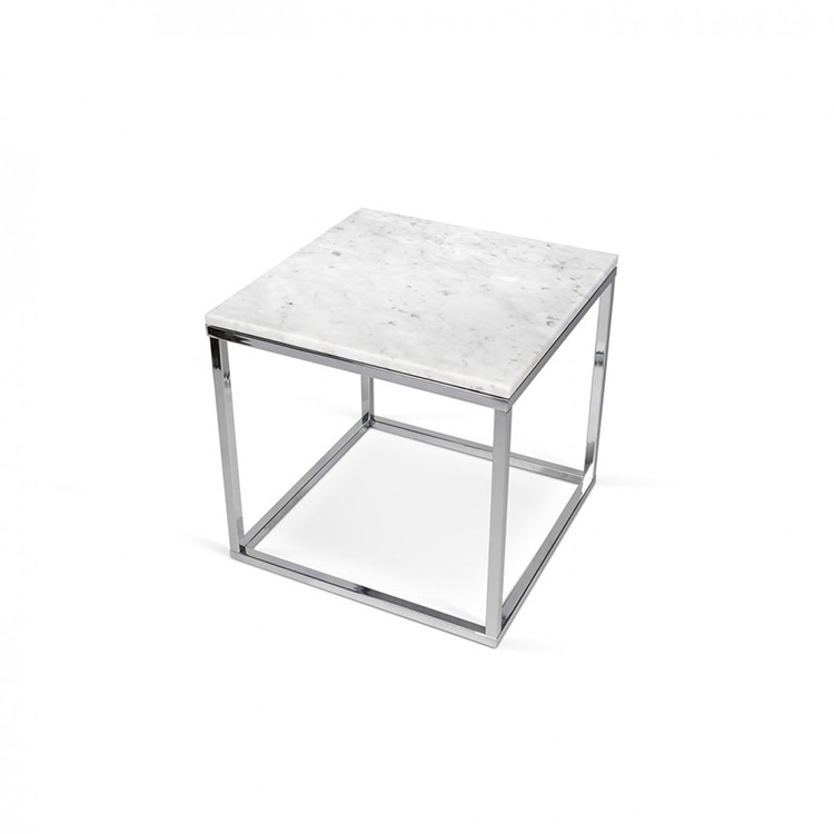 Tema Home S White Furniture Marble And Chrome Side Table At 4 Living
