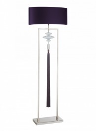Heathfield Nickel & Purple Floor Lamp - Constance