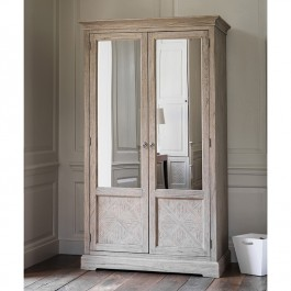 Mustique 2 Mirror Door Wardrobe Hudson Living