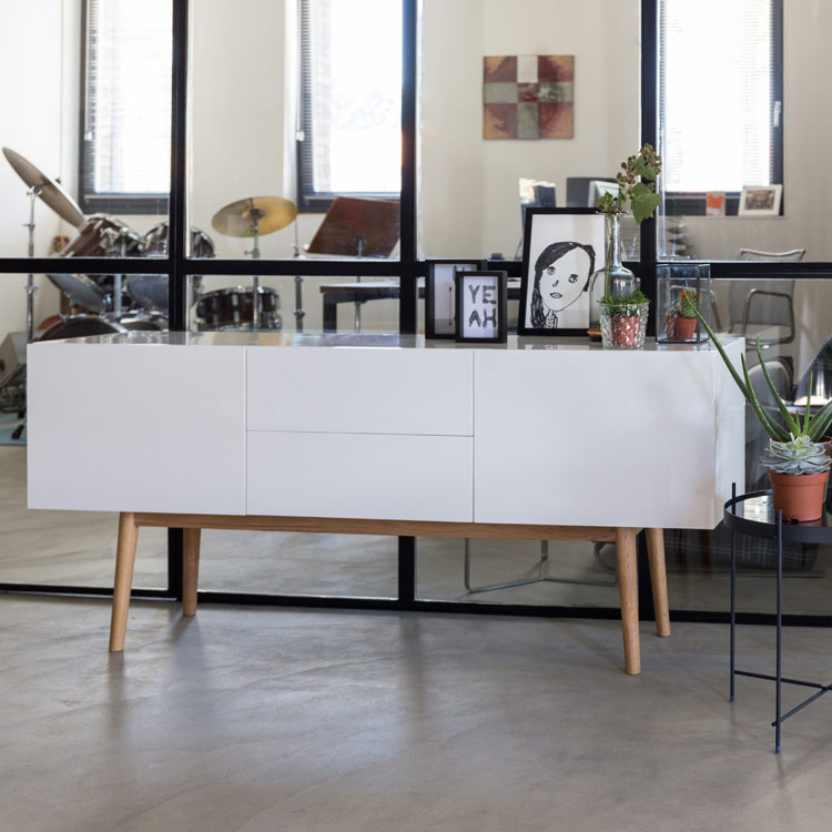 Welcome Furniture Living Room Sideboard White Gloss
