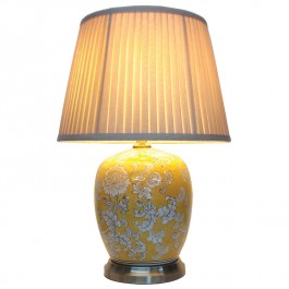 Pair of Oriental Table Lamps - Imperial Jar