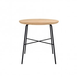 Ethnicraft Oak Disc Side Table Round