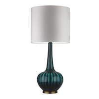 Heathfield Grace Moire Teal Lamp Heathfield