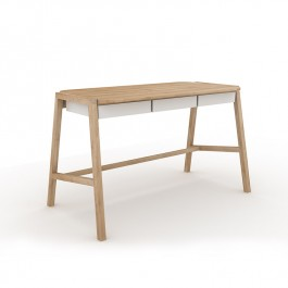 Oak White Desk Verso
