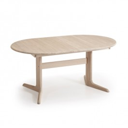 Skovby White Oiled Oak Ellipse Extending Dining Table #17