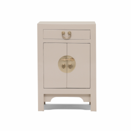Small Chinese Lacquer Cabinet Oyster Grey