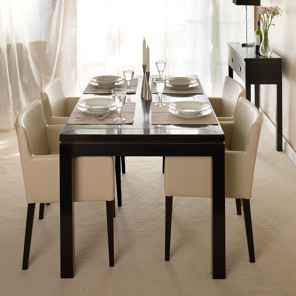 Chinese Black Lacquer Dining Table | 5 Sizes | 4 Living