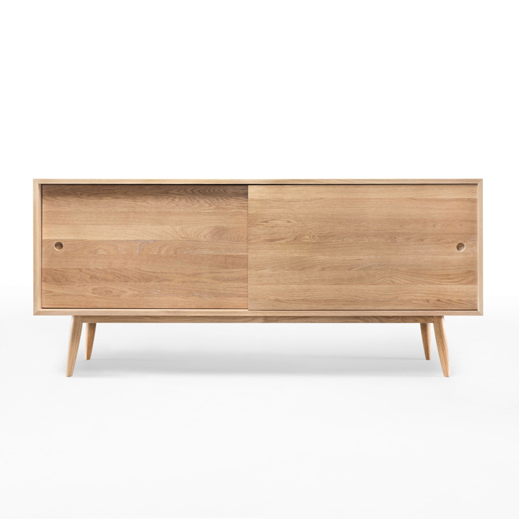 Wewood Solid Wood Sideboards Wewood Solid Oak Sliding Sideboard