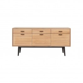 Conran Groove Limed Oak & Black Sideboard