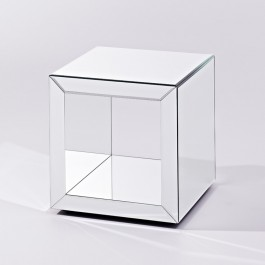Contemporary Mirrored Side Table Box S