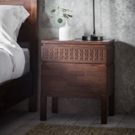 Gallery Boho Retreat 2 Drawer Bedside Table