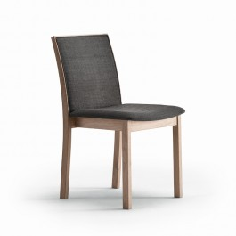 Skovby White Oiled Oak Dining Chair #90 (Grey fabric seat pad)