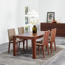 Sandstone Upholstered Walnut Dining Chair