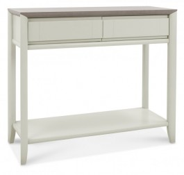 Bergen Washed Oak & Soft Grey Console Table