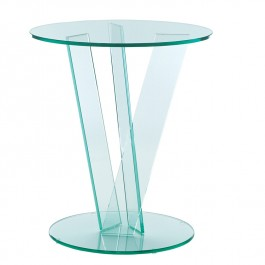 Round Occasional Table - Crossed