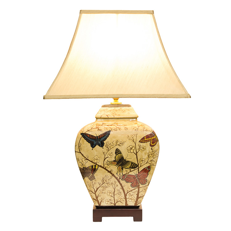 Decorative oriental lamp porcelain butterfly blossom table lamp oriental table lamp butterfly blossom image 1 mozeypictures Image collections