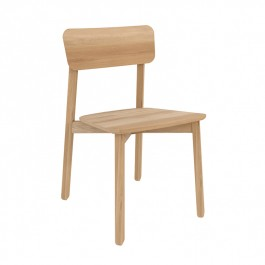Set of 4 Ethnicraft Oak Dining Chairs -  Casale