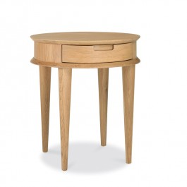 Oak Round Side Table - Oslo