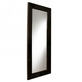 Chinese Black Lacquer Mirror