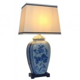 Pair of Oriental Table Lamps - Floral Sprays