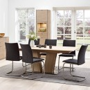Skovby White Oiled Oak Extending Dining Table SM 39 (lifestyle)