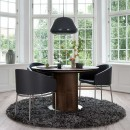 Skovby Black Leather Dining Chair #69 (lifestyle)