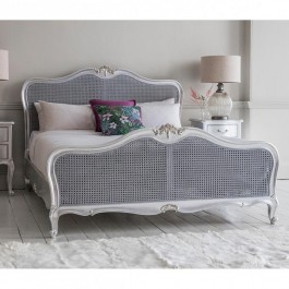 Frank Hudson Chic Cane Silver Bed