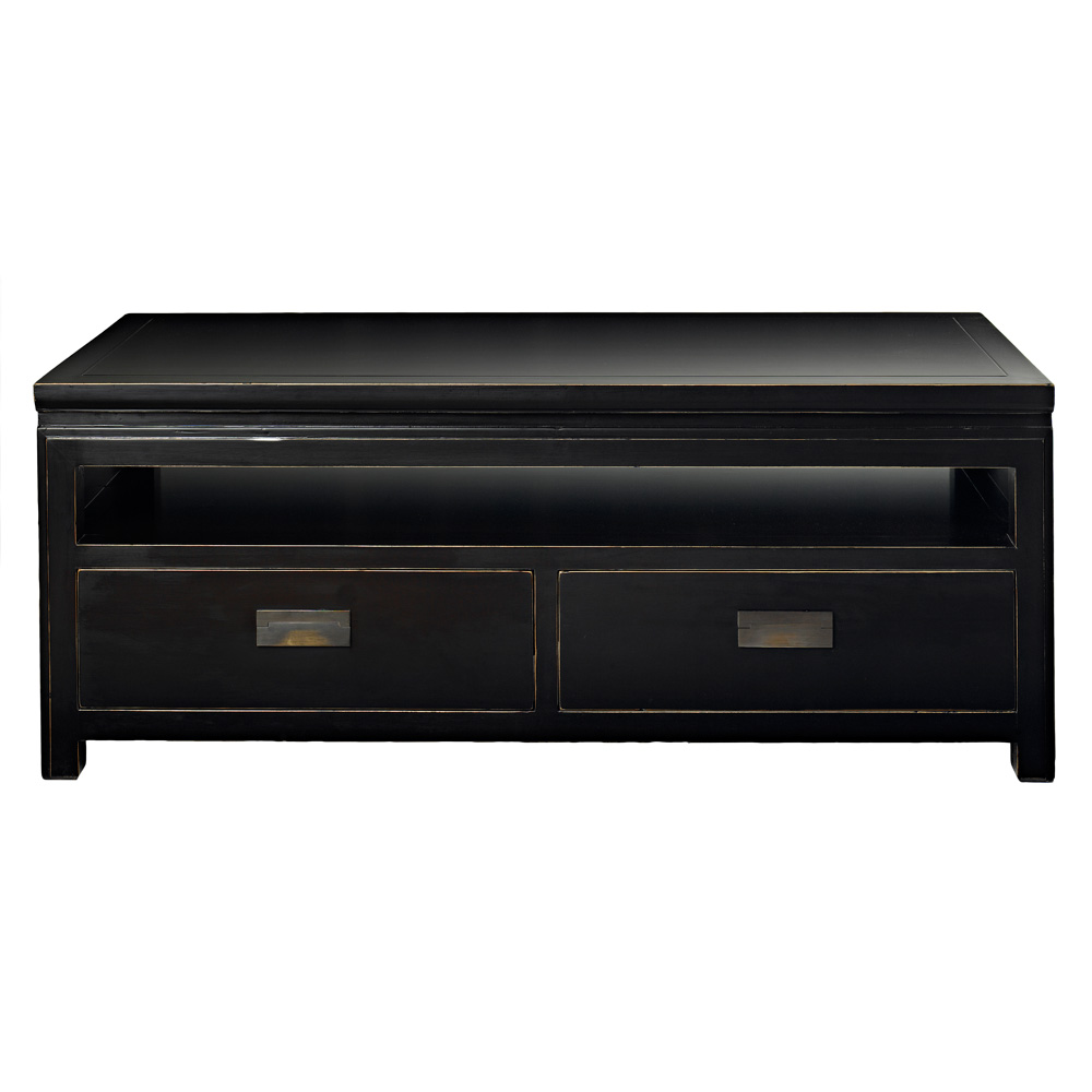 Black lacquer tv unit chinese lacquered furniture at 4 for 4 living furniture