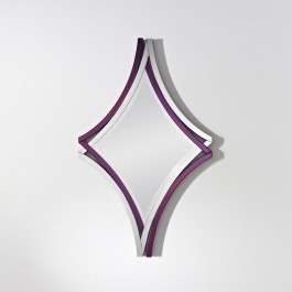 Contemporary Mirror - Twice Purple