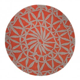 Red Patterned Rug - Oriental Lounge