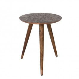 Dutchbone Side Table Bast Copper