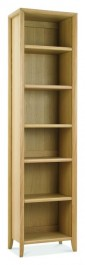 Bergen Washed Oak Narrow Bookcase